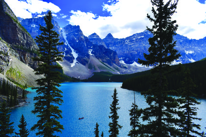 "2nd place: ""Blue Paradise""  taken by Michael Wright in Banff National Park, Canada"