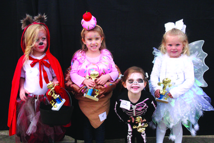 3-4 year old winners:   Ayla Litton, Scariest; Campbell Boyd, Funniest; Annabelle Pearman, Most Original and Emma Brown, Cutest.