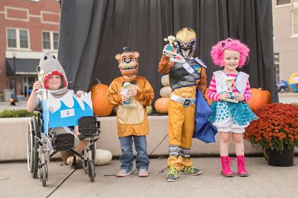 5-6 year old. Most Original –  Asa Perkins; Funniest – Eric Zwiep Scariest – Noah Young; Cutest – Kinzleigh Hack