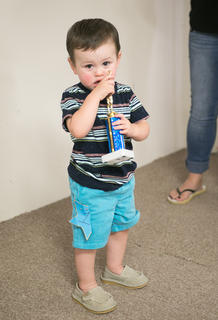 The winner of the most handsome little boy one year to two-years-old was Logan James Pepper, 1, of Hodgenville.