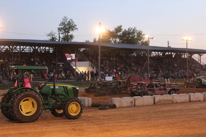 The grandstand at the LaRue County Fair filled up for the demolition derby on Friday, June 9.