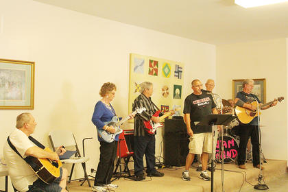 Senior Citizen's Day was held at the LaRue County Fair on Wednesday, June 8. A live band entertained the packed house at the Morrison-Phelps building.