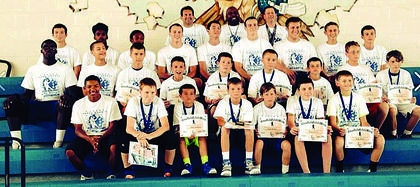 Fourth-through-sixth-graders attended the morning sessions of Future Hawk Basketball Camp.