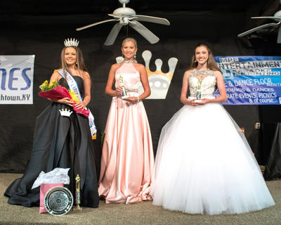 The winners of the 2017 LaRue County Miss Teen pageant are pictured from left Keiley Johnson, 13, of Greensburg (winner and Peoples Choice); Lauren Presley Grant, 15, of Columbia (first runner-up) and Skylar Owen, 18, of Glasgow (second runner-up).
