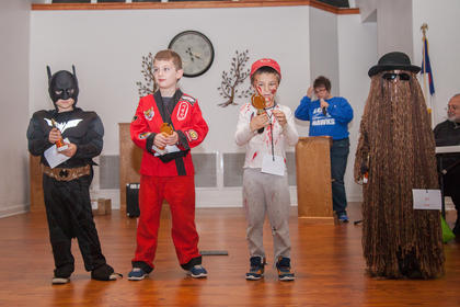 The winners of the 5-6 year old group were, from left, Alex Morgan (Cutest), Stephen Wells (Most Original), Dillion Blair (Scariest) and Isabella Day (Funniest).